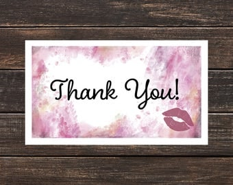 LipSense Thank You Card- LipSense Cards, Custom LipSense