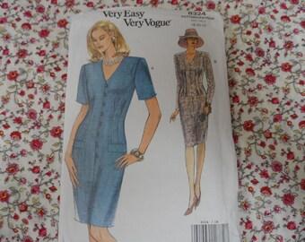 Vogue 8324 Misses Dress Pattern Very Easy Vogue Sizes 18-29-22 Uncut