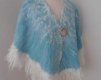 felted blue wrap by plumfish