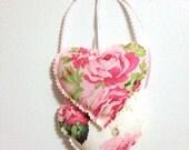 Rose coeur tentures, coeurs avec des roses, Tenture murale, tissu coeurs Tenture murale, décorations de la Saint-Valentin