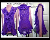 VEST CROCHET PATTERN, Mandela Circle Vest, Bohemian Vest, Teen and adult, plus size. #1125