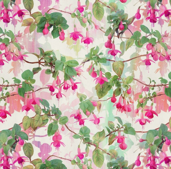 floral patterned canvas fabric - photo #36