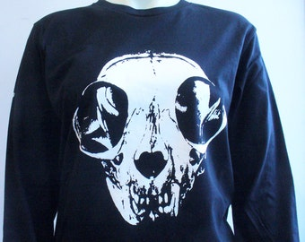 2 LEFT Skull Cat Long Sleeve Shirt by Blim!
