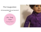 SALE! Melania Trump's Inaugural Digital PDF Dress Suit Sewing Pattern for American Girl Doll 18 inch