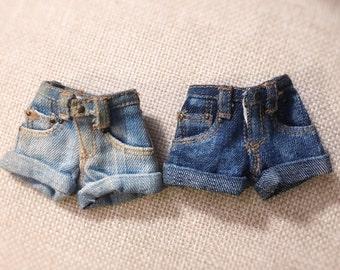 Jiajia Doll Miniature Artworks Levi style shorts Jeans 3 color to choose fit momoko blythe azone misaki jerryberry yosd