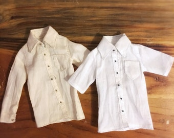jiajiadoll- white or cream shirts fit momoko or misaki or blythe or azone unoa lights