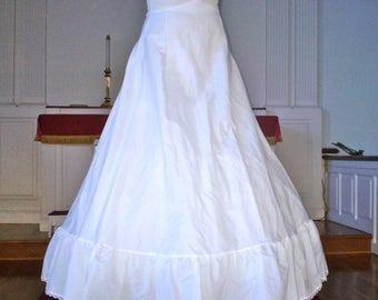 Vintage bridal crinoline with cinch waist- zip close bridal crinoline slip- size 4- wide fluffy wedding slip- puffy slip- ready to ship