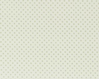 Tilda Fabric, Tilda Mini Star Light Green Fat Quarter, Happiness is Homemade Collection, Tilda Fabric 480739, Fat Quarter, 50 cm x 55 cm
