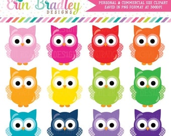 50% OFF SALE Owls Clipart Graphics Instant Download Commercial Use Animal Clip Art