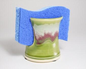 Pottery Spongeholder - Letter Holder - Sponge Organizer - Sponge Caddie - Sink Holder - Ceramic Sponge Dish - Ceramic Spongeholder - InStock