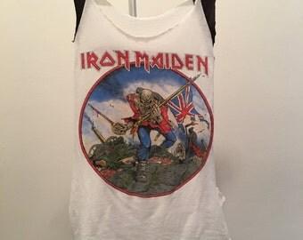 Authentic RARE Vintage Iron Maiden Trooper - World Piece '83 Tour T-shirt