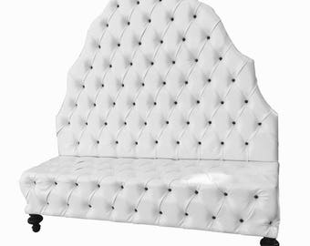 Lobby Furniture Upholstered Bench Tufted Banquette Tufted Booth Custom Booth Salon Banquette Dining Room Booth Dining Room Bench Lobby Bench