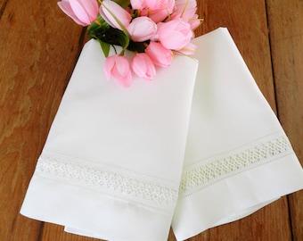Irish Linen Pillowcases, White Linen Pillowcases, Ireland Pillowcases, Linen Pillowcases, Made in Ireland