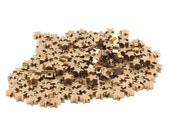 Brass Star Spacer Bead, 50 Raw Brass Star Spacer Beads, Spacer Connectors, Star Beads (5.2x2.6mm) D104
