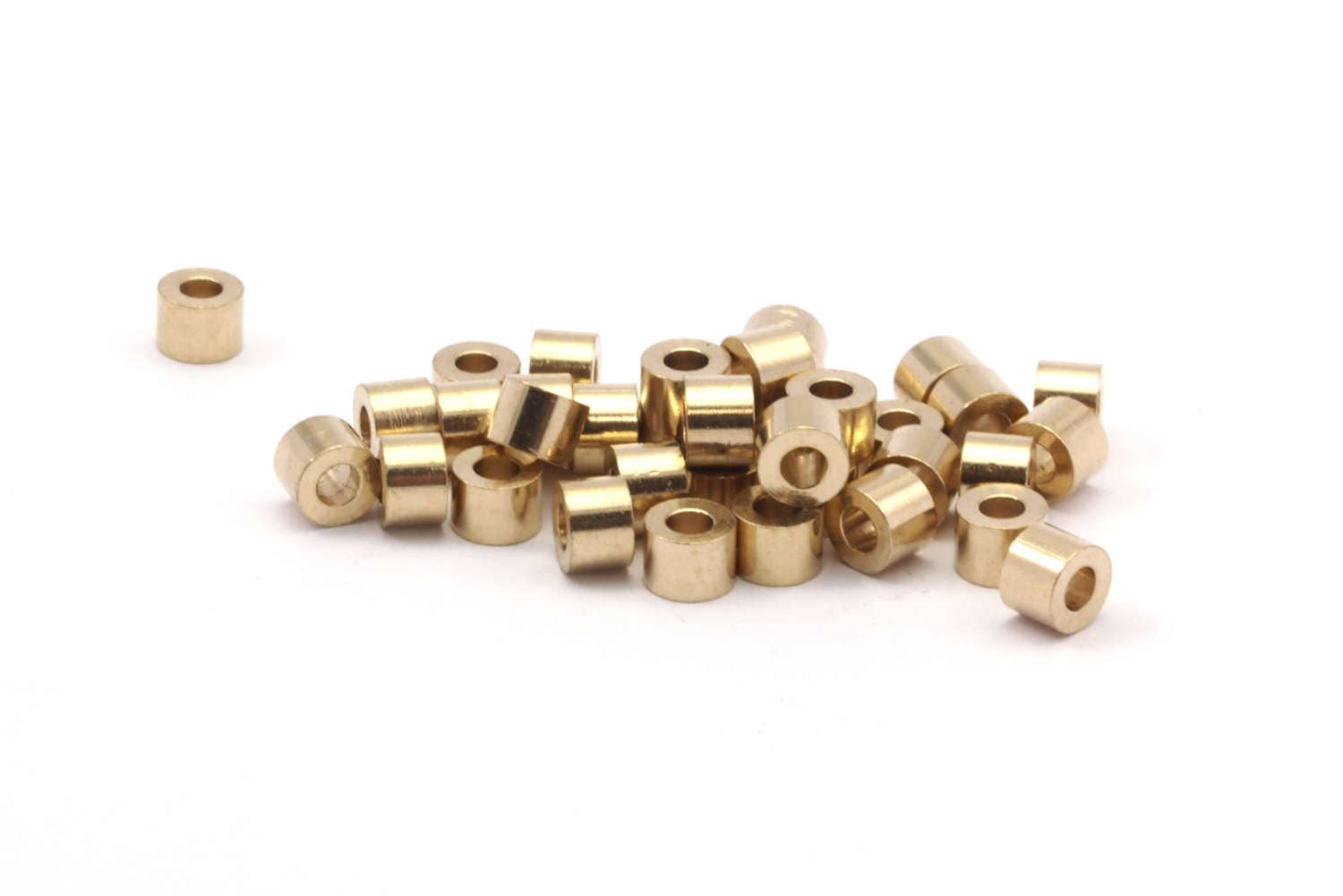 Industrial spacer bead raw brass beads