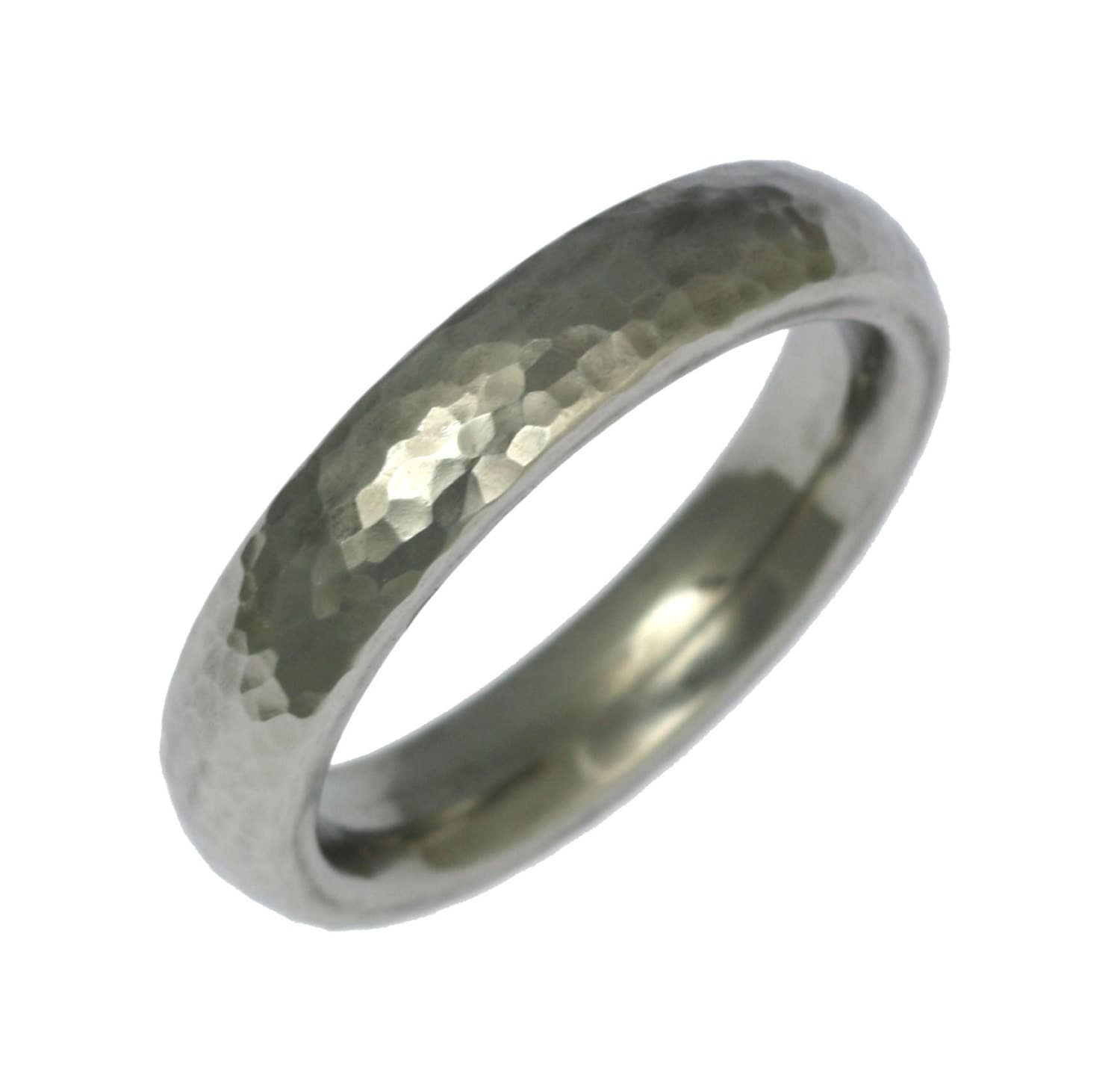 5mm hammered stainless steel mens ring mens hammered wedding