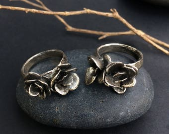 Silver Succulent Ring, Garden Jewelry, Made by Jamie Spinello