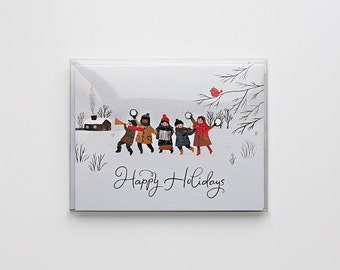 Happy Holiday Card - Pack of 4