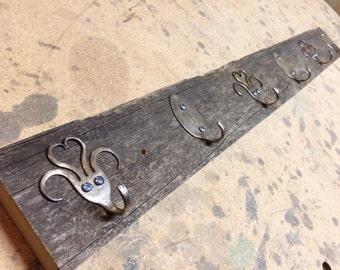 Rustic Barn Board Key Rack