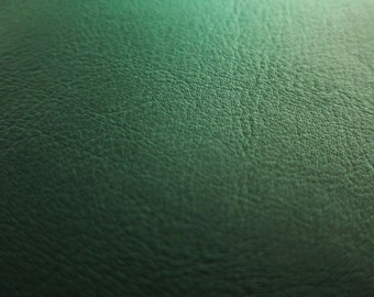 Faux Leather Fabric in Lambskin Pattern - Dark Forest Green - One Yard - Vegan Leather FABRIC SALE