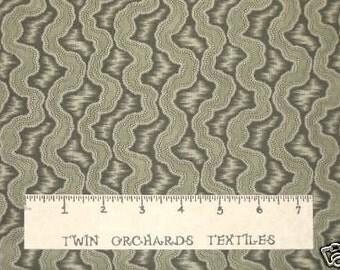 FREE SPIRIT Cotton Fabric Green Ribbons 1/2 Yards