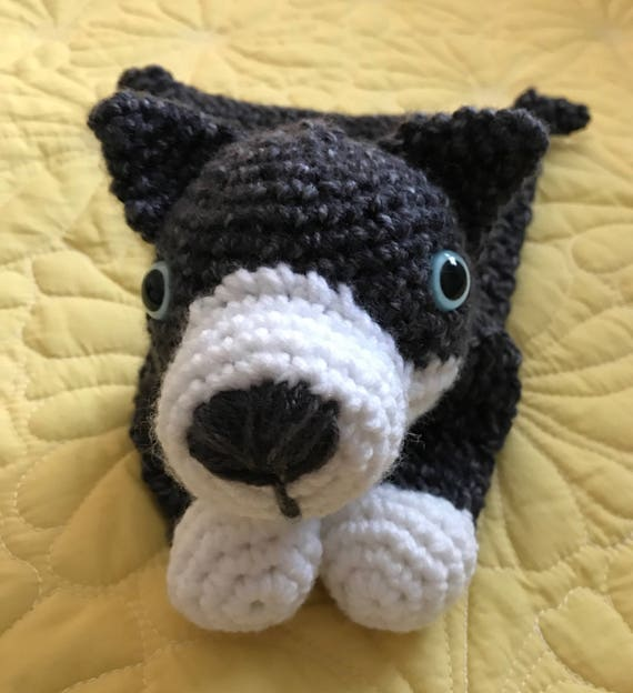 Grey and White Little Wolf Rag Doll Toy/Lovey