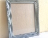 Unique Vintage Filigree Pewter Silver Metal Picture Frame 8x10