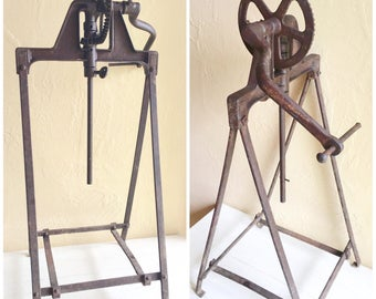 Rustic Antique Metal Farm Butter Churn Mechanism Ultimate Farmhouse Decor