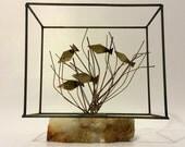 Vintage sculpture Mid-Century Modern Wire Sculpture 1960s-1970s Brutalist sculpture