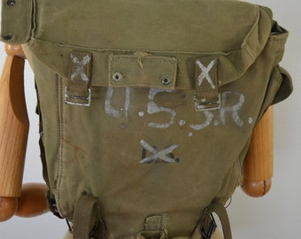 sale Vintage U.S. Army M-1945 Field Cargo Pack WW2 dated 1945 world war two haversack ruck sack