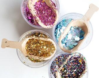 Glitter With Scoop & Custom Label - 4 oz.