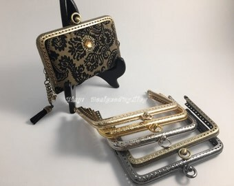"""5 1/8""""x3 1/8"""" Card Holder Purse Frame ,Choose From 5 Colors, PF004"""