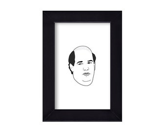 4 x 6 Framed Kevin Malone / The Office Portrait