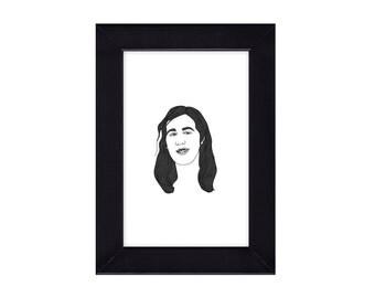 4 x 6 Framed Krist Novoselic / Nirvana Portrait