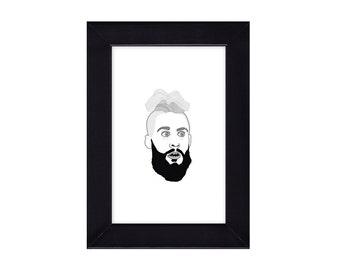 4 x 6 Framed Enzo Amore / WWE Portrait