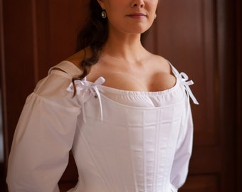 18th Century Stays- 18th Century Corset made to order Historical Stays Marie Antoinette 1770s 1780s Reenactment Undergarment