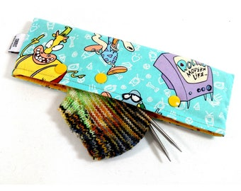 Stitch Holder Point Protector Zipper Pouch Needle Nook - DPN and Circular Project Holder -  Rocko's Modern Life