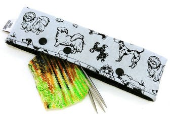 Stitch Holder Point Protector Zipper Pouch Needle Nook - DPN and Circular Project Holder - Beautiful Breeds