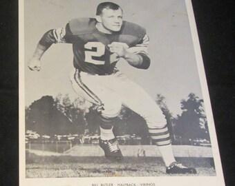 Bill Butler 8x10 Press Photo Vintage 1960's Halfback Minnesota Vikings