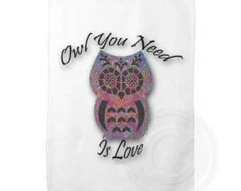 Owl You Need Is Love, Owl Kitchen Towel