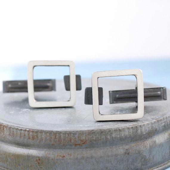 Geometric cufflinks | Art Deco cufflinks | Black cufflinks | Modern cufflinks | Unique cufflinks | Gatsby wedding | Tuxedo cufflinks |