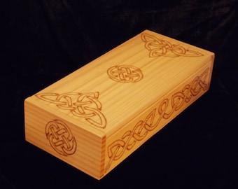 Celtic Knots Pyrography Wood Gift Box