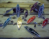 Kayak Stained Glass Suncatcher Boats Canoe Lake Water Craft Fathers Day Tree Ornament Sports Christmas Original Design©
