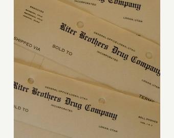 ON SALE Antique Druggist Unused Ledgers