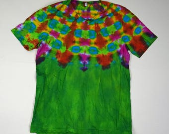Pharaoh's Collar ~ Tie Dye T-Shirt (Bella Canvas V-neck Size XL) (One of a Kind)