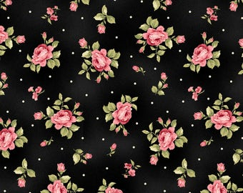 Black Flannel Fabric - Welcome Home - Maywood - F8362M-J
