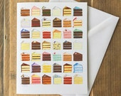 Greeting Card Blank Inside - Cake Flavors Painting