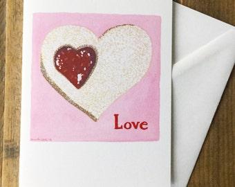 Greeting Card Blank Inside - Love Cookie Original Painting