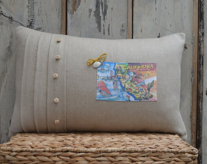 California Postcard Pillow (available in 4 styles)