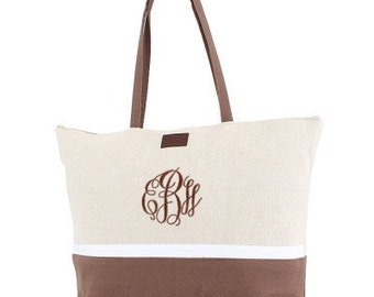Personalized Canvas Tote Bag Large